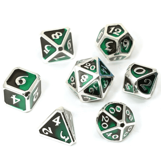 Dice 7-set Metal Mythica (16mm) Dark Arts Blight