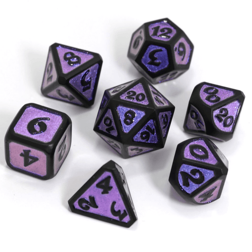 Dice 7-set Metal Mythica (16mm) Dreamscape Nightshade