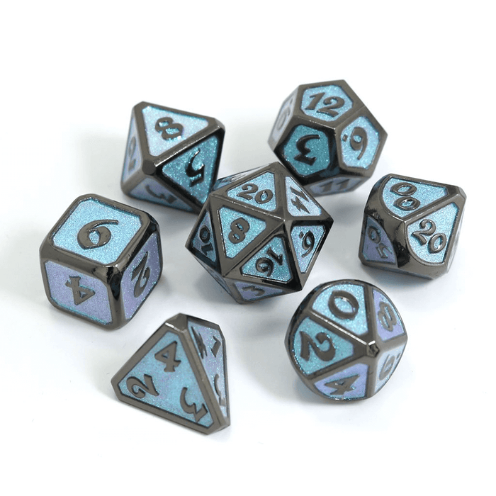 Dice 7-set Metal Mythica (16mm) Dreamscape Winter's Embrace