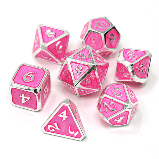 Dice 7-set Metal Gemstone (16mm) Pink Sapphire