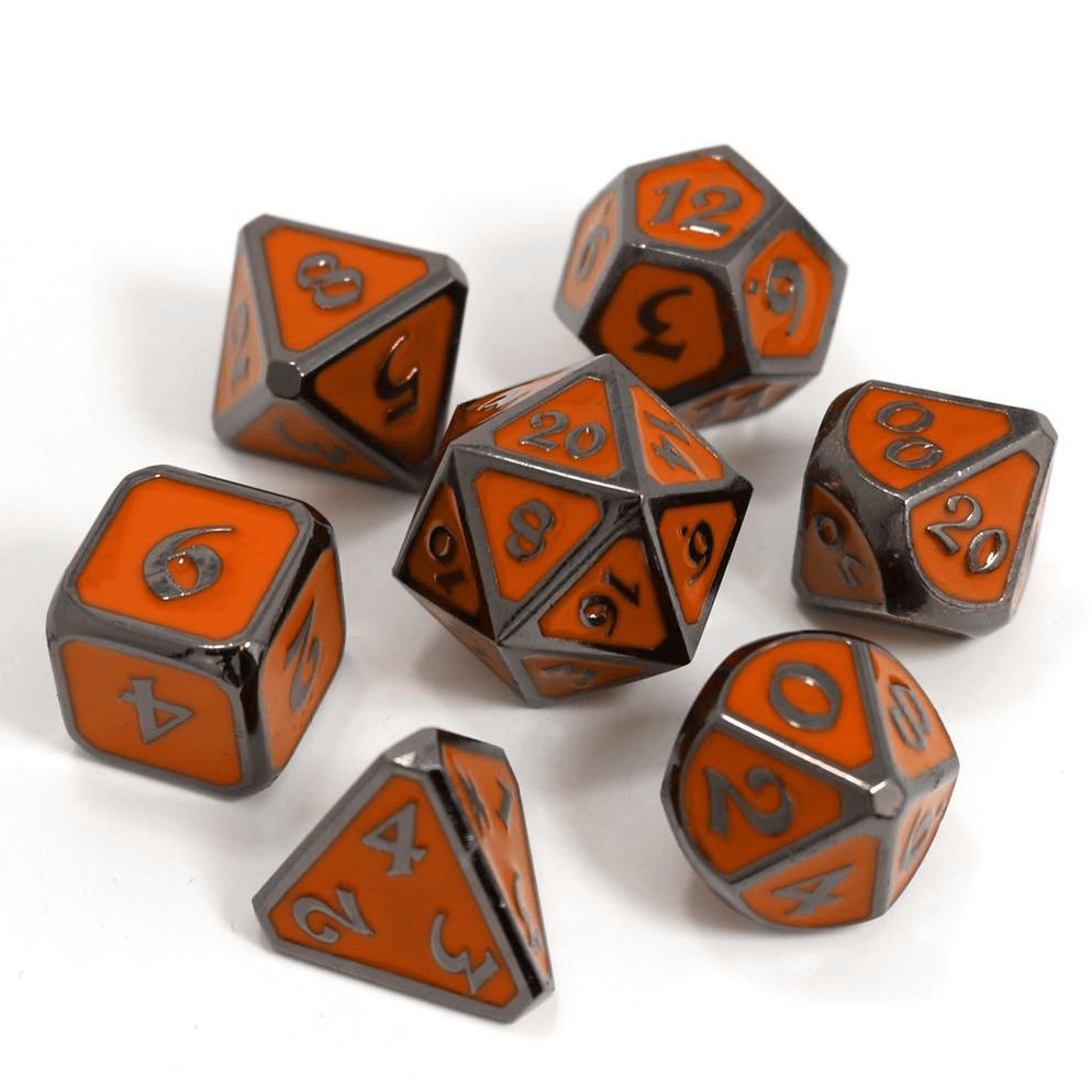 Dice 7-set Metal Mythica (16mm) Sinister Harvest