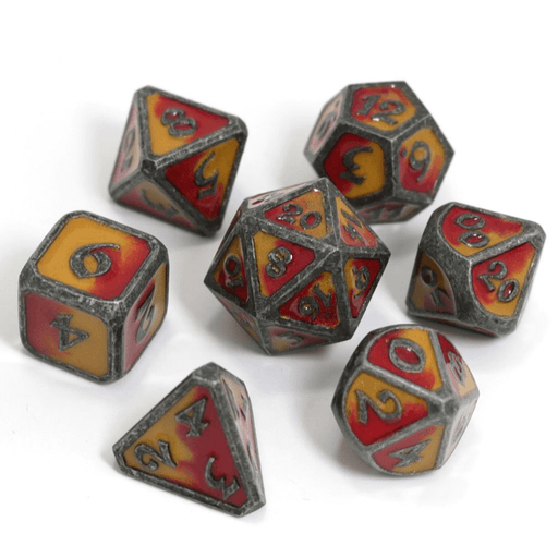 Dice 7-set Metal Mythica (16mm) Spellbinder Brimstone