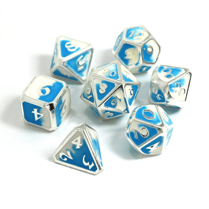 Dice 7-set Metal Mythica (16mm) Spellbinder Polar Vortex