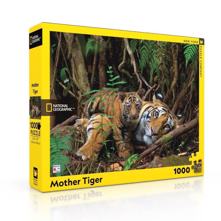 Puzzle (100pc) National Geographic : Mother Tiger and Cub