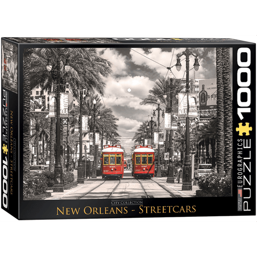 Puzzle (1000pc) City : New Orleans Streetcars