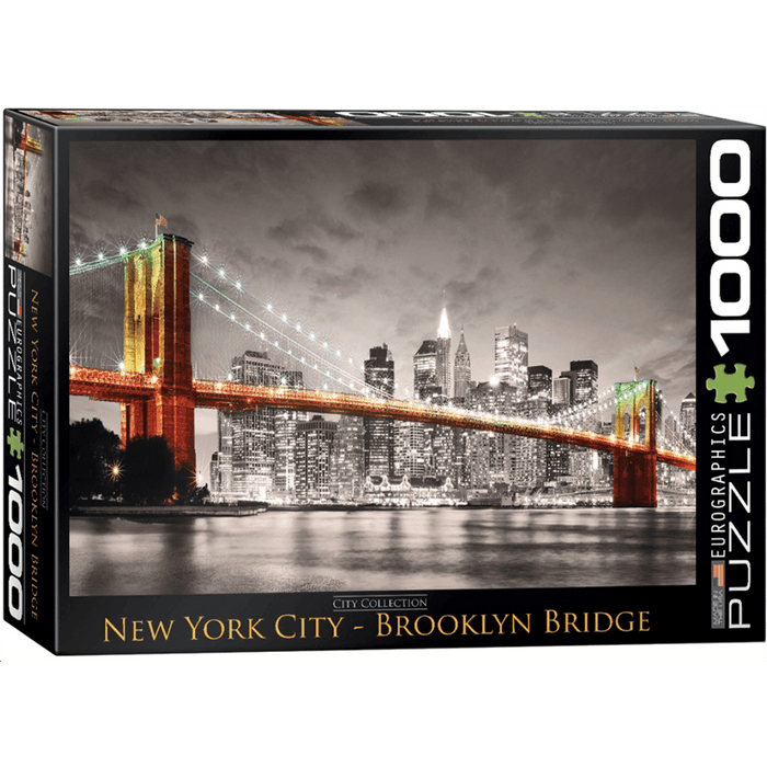 Puzzle (1000pc) City : New York City Brooklyn Bridge
