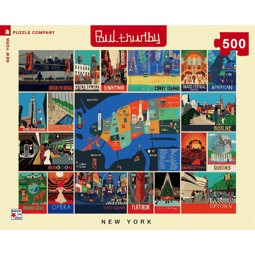 Puzzle (500pc) Paul Thurlby : New York Collage