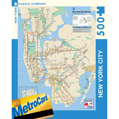 Puzzle (500pc) Map : New York Subway