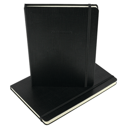 Notebook Letterbox (6.75x10in Line) Black