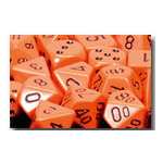 Dice Set 36d6 Opaque (12mm) 25803 Orange / Black