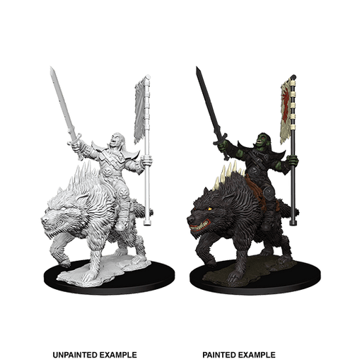 Mini - Pathfinder Deep Cuts : Orc on Dire Wolf