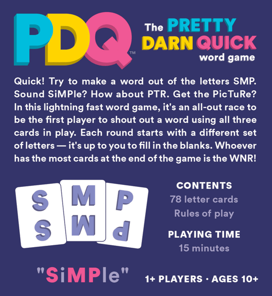 PDQ Pretty Darn Quick Word Game (2017)