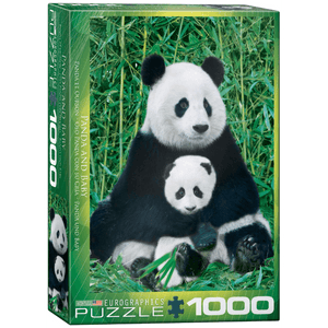 Puzzle (1000pc) Animal Life Photography : Panda and Baby