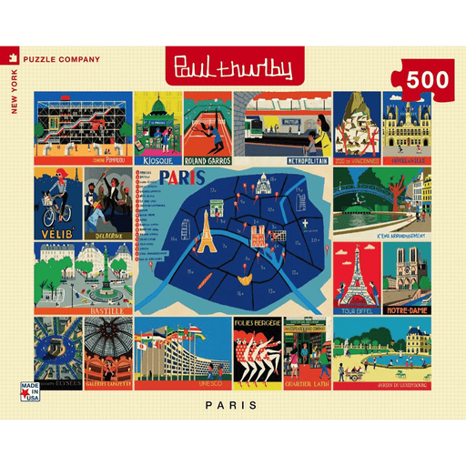 Puzzle (500pc) Paul Thurlby : Paris Collage