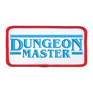 Patch (Iron On) Dungeon Master : Blue / Red