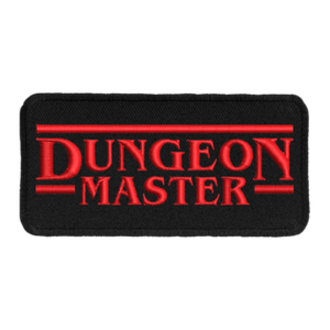 Patch (Iron On) Dungeon Master : Red / Black
