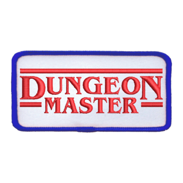 Patch (Iron On) Dungeon Master : Red / Blue