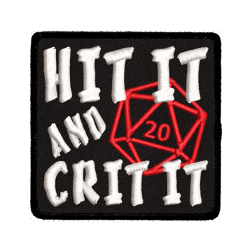 Patch (Iron On) Hit It and Crit It