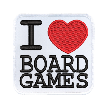 Patch (Iron On) I Heart Board Games