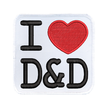 Patch (Iron On) I Heart D&D