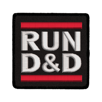 Patch (Iron On) Run D&D