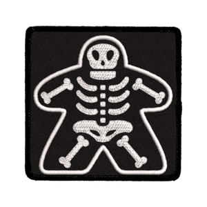 Patch (Iron On) Meeple Skeleton