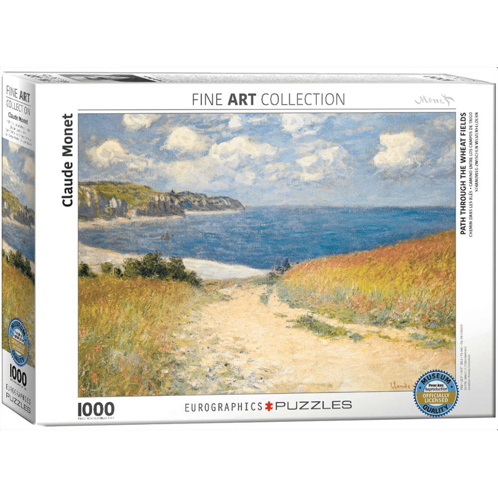 Puzzle (1000pc) Fine Art : Path Through the Wheat Fields