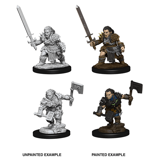 Mini - Pathfinder Deep Cuts : Dwarf Barbarian (Female)