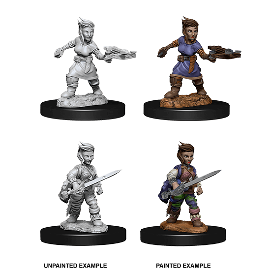 Mini - Pathfinder Deep Cuts : Halfling Rogue (Female)
