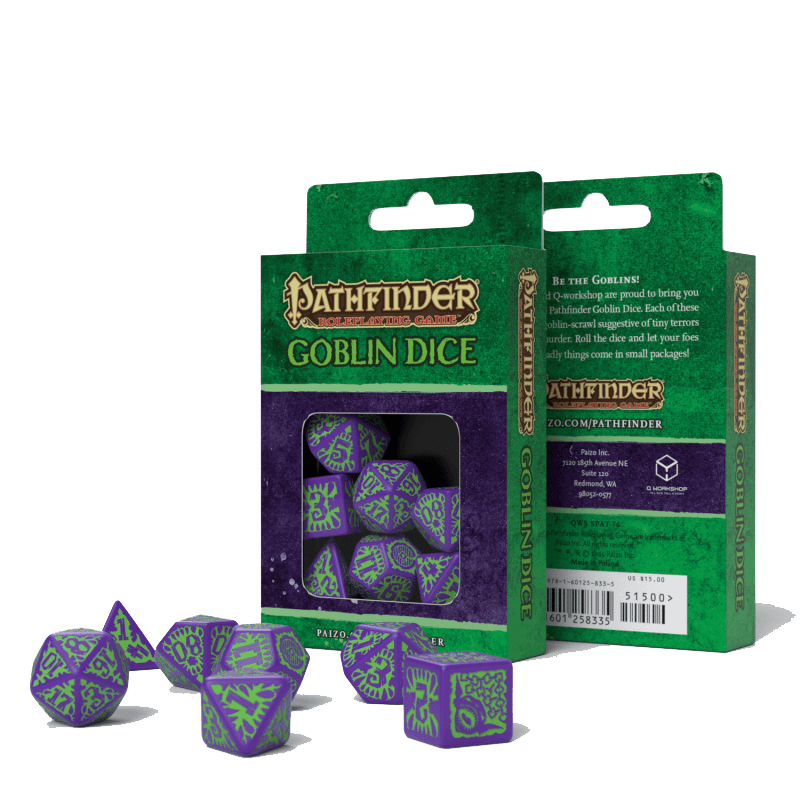 Dice 7-set Pathfinder (16mm) Goblin Purple / Green