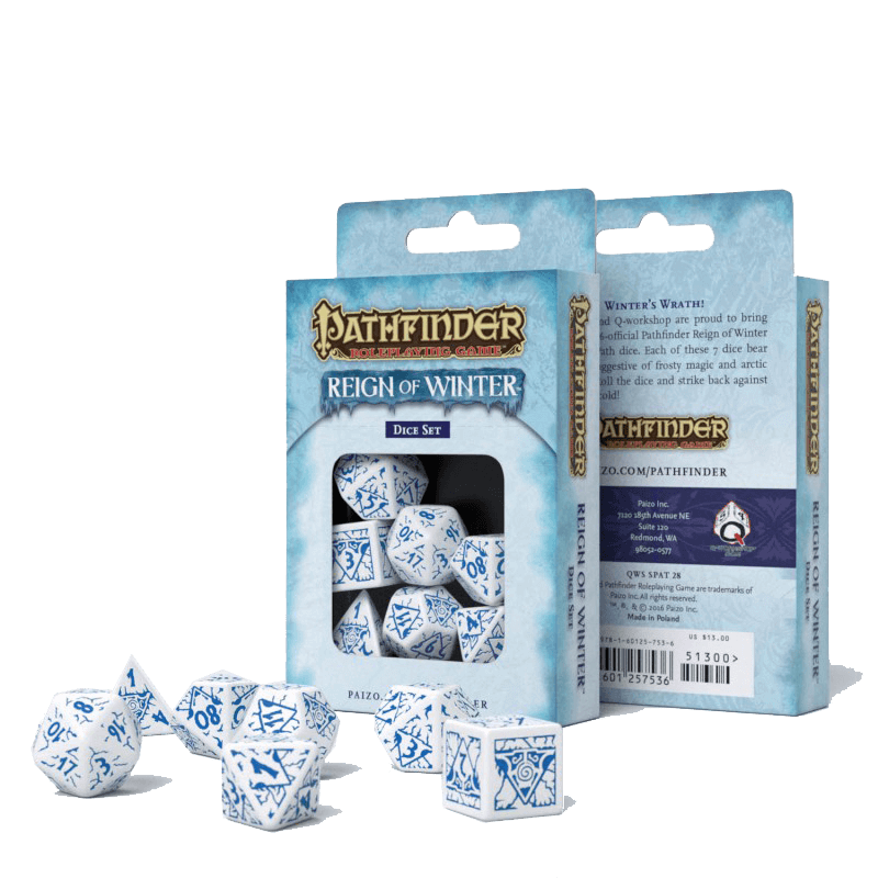 Dice 7-set Pathfinder (16mm) Reign of Winter