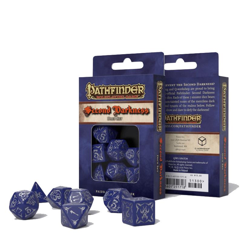 Dice 7-set Pathfinder (16mm) Second Darkness