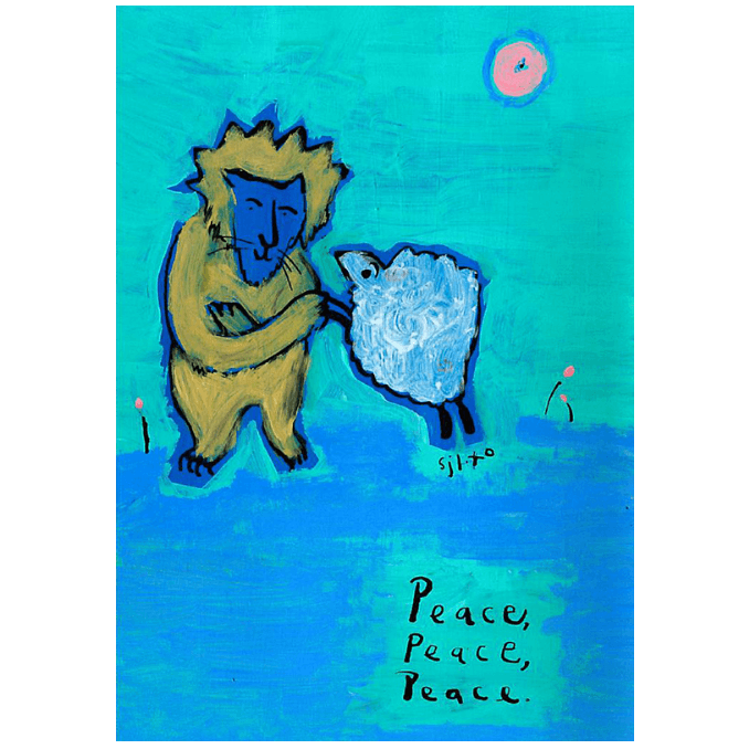 Greeting Card (3x5in) Peace, Peace, Peace