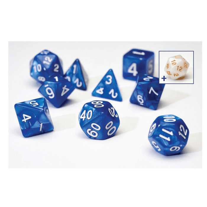Dice 7-set Pearl (16mm) Blue