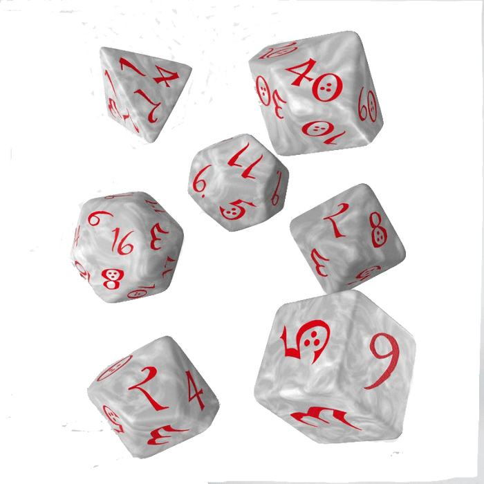 Dice 7-set Classic (16mm) Pearl / Red