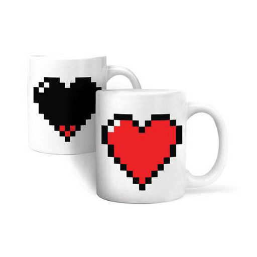 Pixel Heart (Heat Change) Mug