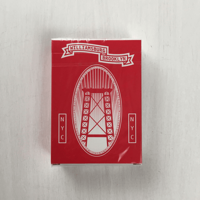 Playing Cards Williamsburg Red