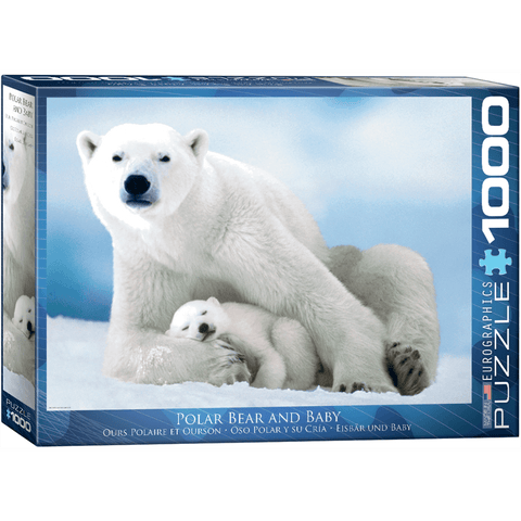 Puzzle (1000pc) Animal Life Photography : Polar Bear and Baby