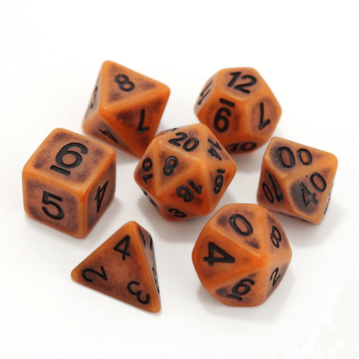 Dice 7-set Golem (16mm) Pumpkin