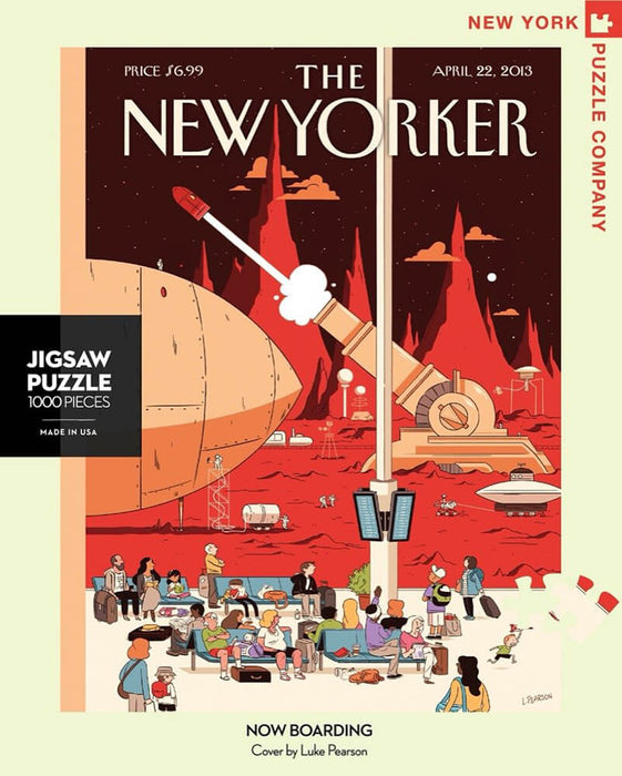 Puzzle (1000pc) New Yorker : Now Boarding