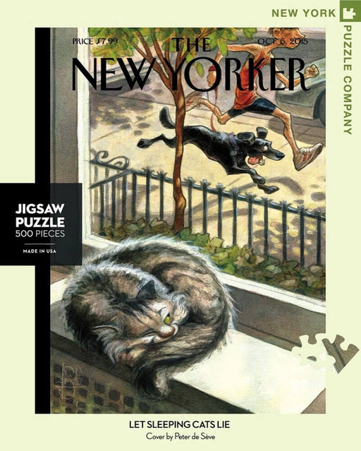 Puzzle (500pc) New Yorker : Let Sleeping Cats Lie