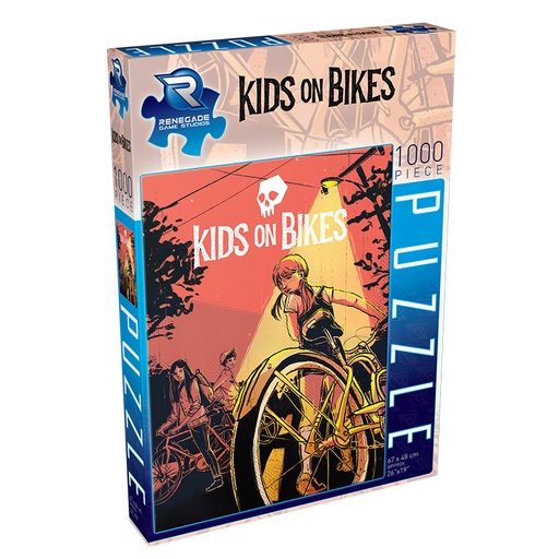 Puzzle (1000pc) Kids on Bikes