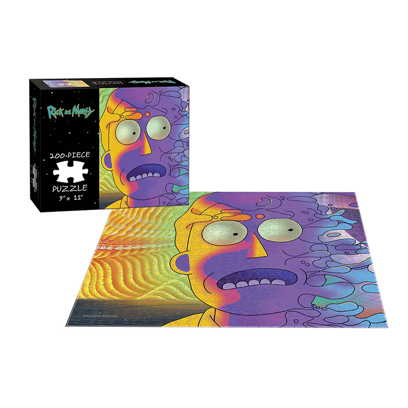 Puzzle (200pc) Rick and Morty : Psychedelic Jerry
