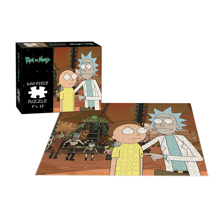 Puzzle (200pc) Rick and Morty : Rickmancing the Stone