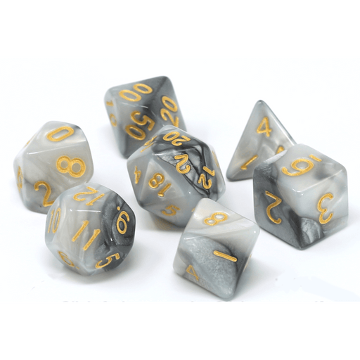 Dice 7-set Alloy (16mm) Quicksilver