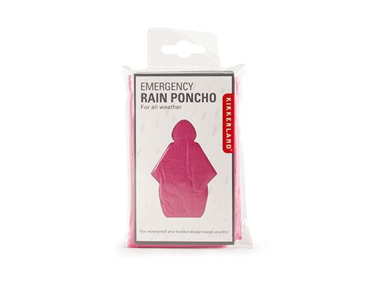 Emergency Rain Poncho : Assorted Colors