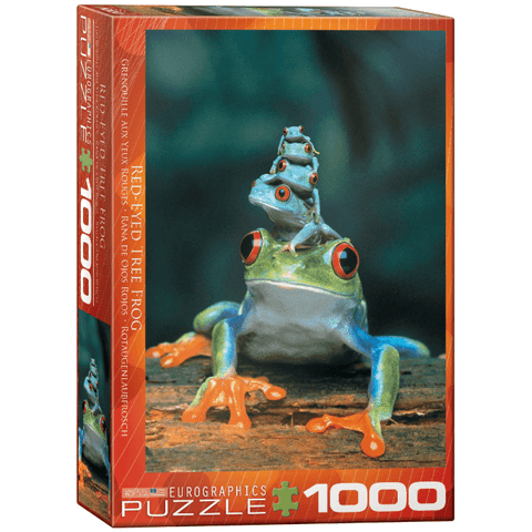 Puzzle (1000pc) Animal Life Photography : Red-Eyed Tree Frog