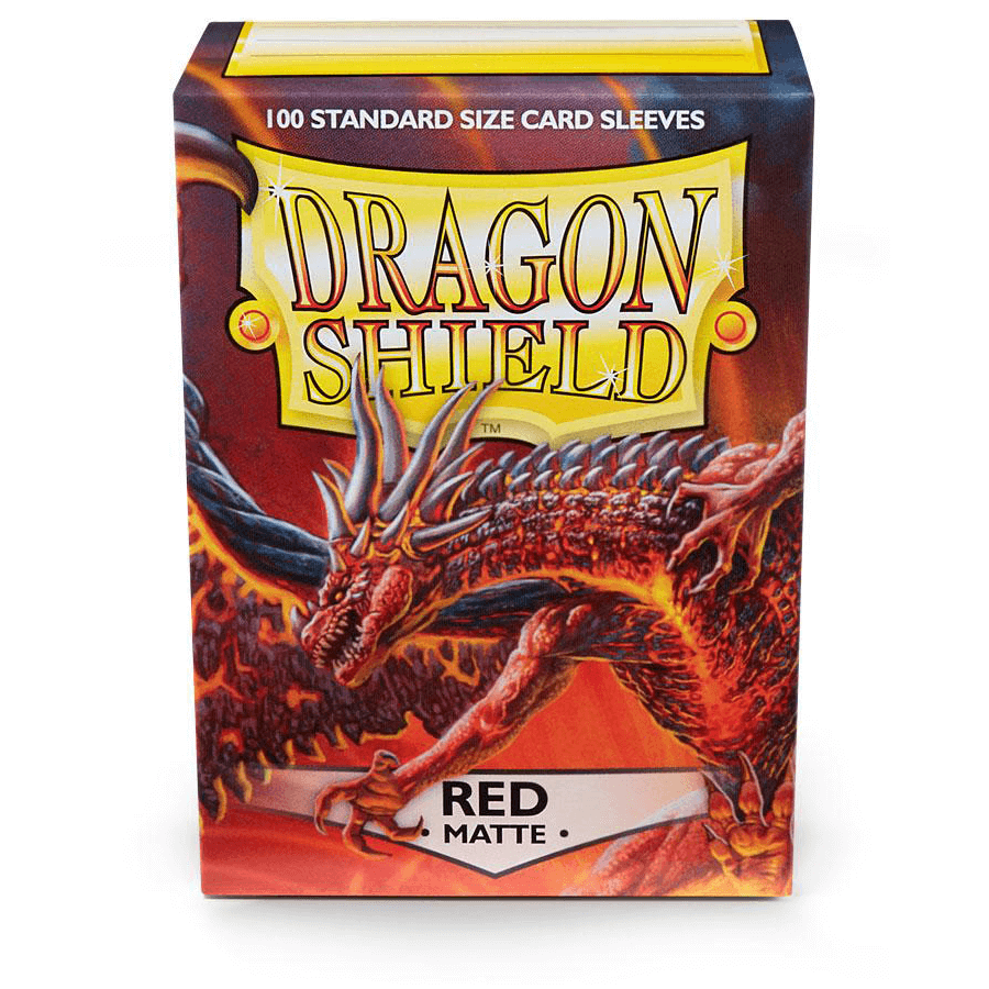Sleeves Dragon Shield (100ct) Matte : Red