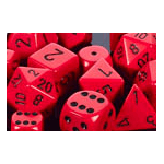 Dice Set 36d6 Opaque (12mm) 25814 Red / Black