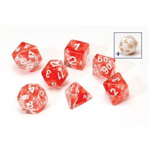 Dice 7-set Translucent (16mm) Red Cloud